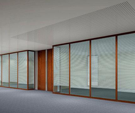 中空玻璃百叶窗-中空隔墙