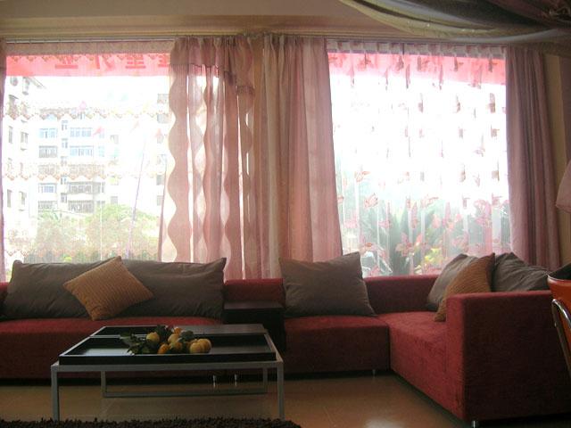 酒店休息区窗帘、酒店窗帘图片