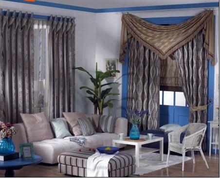 窗帘效果图-2010时尚卧室窗帘效果图