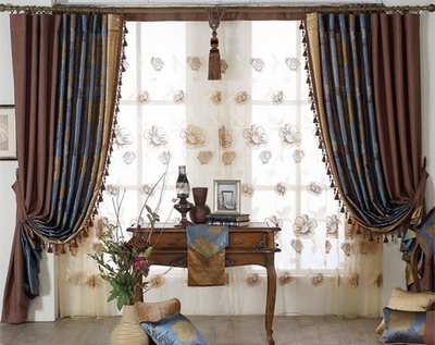 尊贵大气的窗帘,表现出你的生活品味
