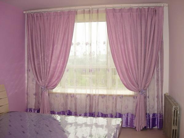 流行卧室窗帘效果图 6