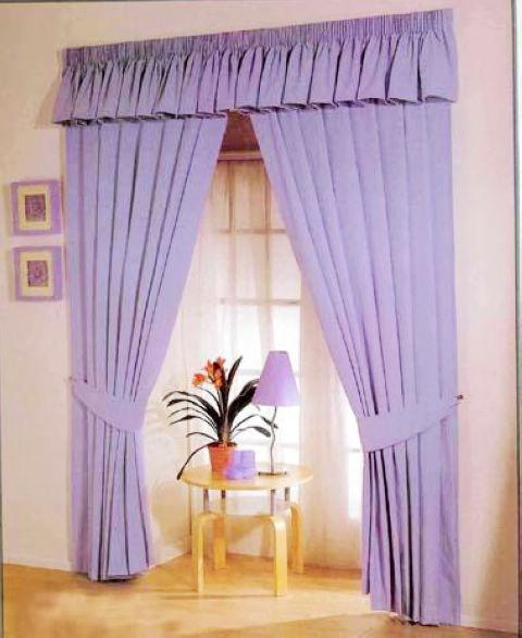 淡紫色卧室窗帘效果图