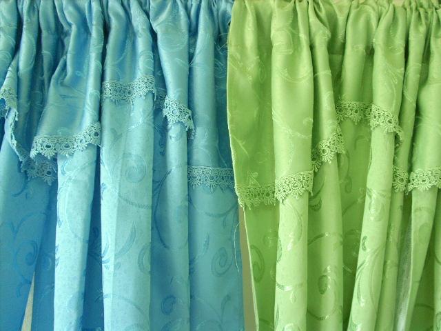 绿色优雅软包窗帘搭配(20)