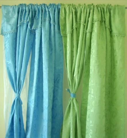 绿色优雅软包窗帘搭配(21)