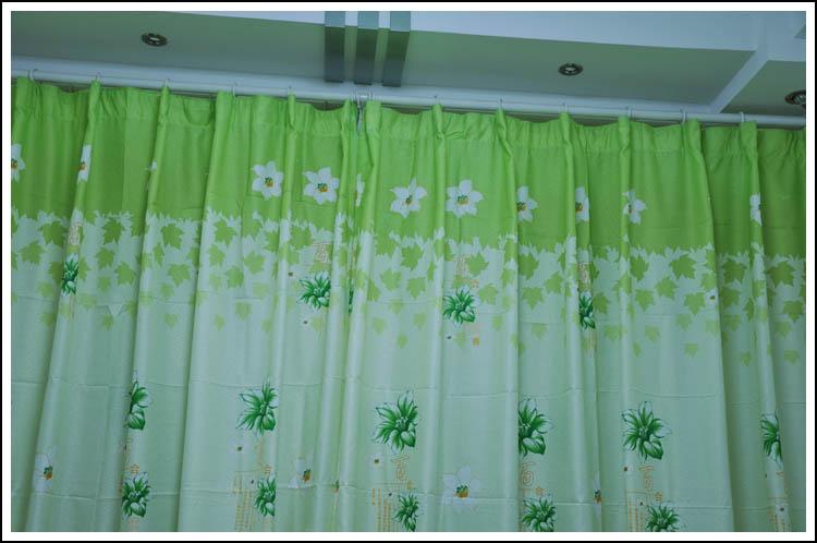 绿色优雅软包窗帘搭配(31)