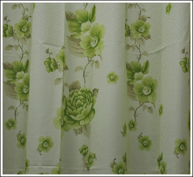 绿色优雅软包窗帘搭配(33)