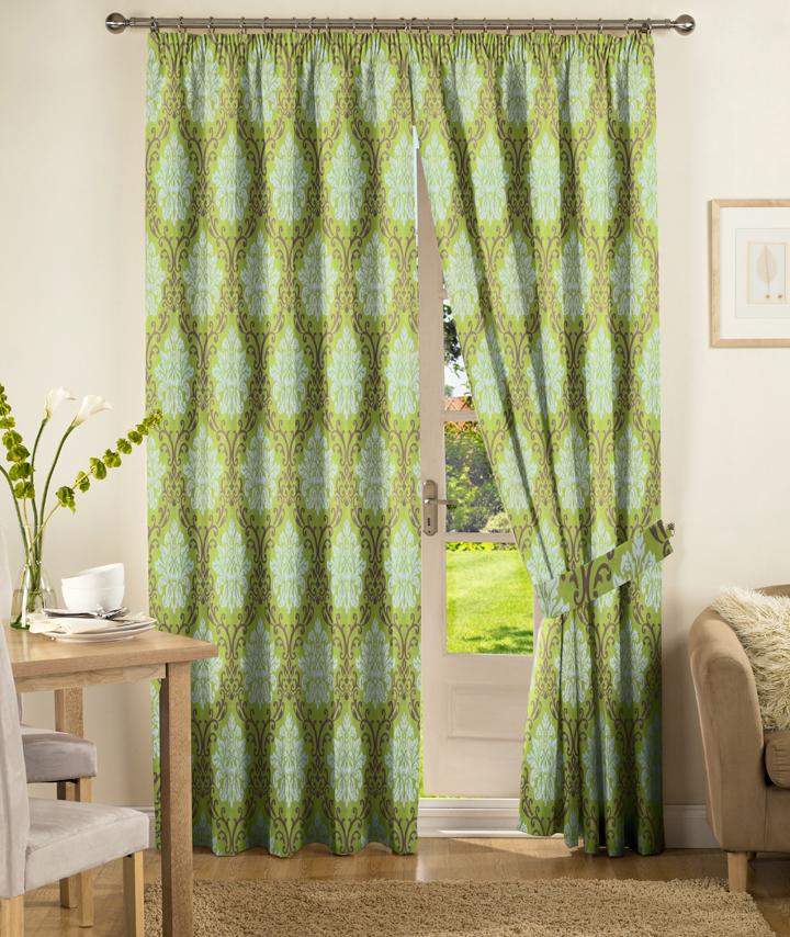 绿色优雅软包窗帘搭配(43)