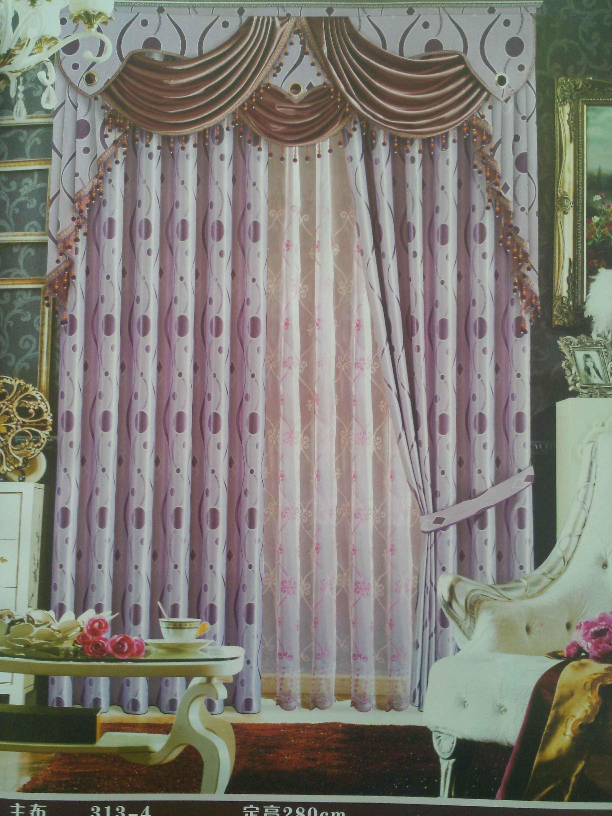 高档大气波点客厅窗帘