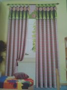 花格自然清新窗帘布艺
