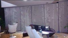 深圳西丽博林天瑞12米高巨作竹林喷绘卷帘窗帘案例