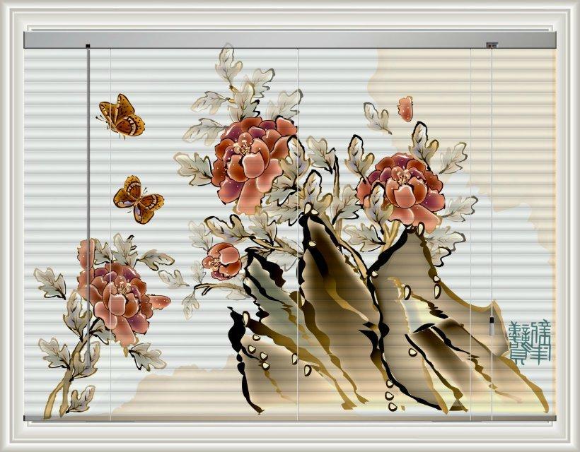 深圳高端百叶窗~图案独特烤漆百叶窗~喷绘百叶窗