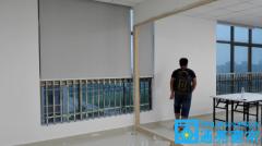 龙岗龙腾路深圳国际低碳城工厂窗帘成功案例(华丰绿色能源创新科技园办公窗
