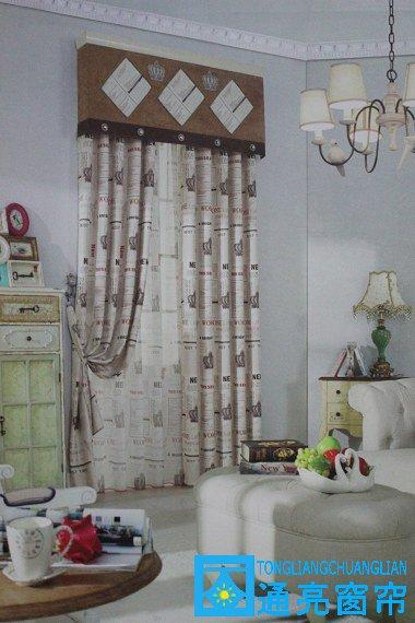 家居美式遮光布艺2573-米白