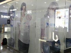 福田彩田路星河第三空间商场喷绘卷帘工程案例