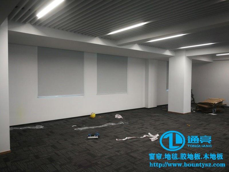 景田遮光窗帘+中汽南方大厦舞台地板